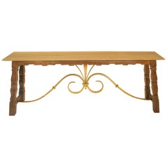 Large French Console Table by Jean-Charles Moreux, 1930s