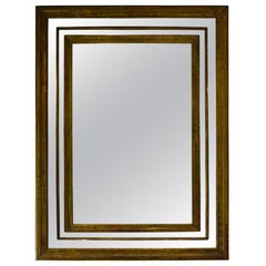 Large French Copper Mirror