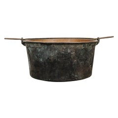 Large French Copper Pot with Iron Hanging Handle