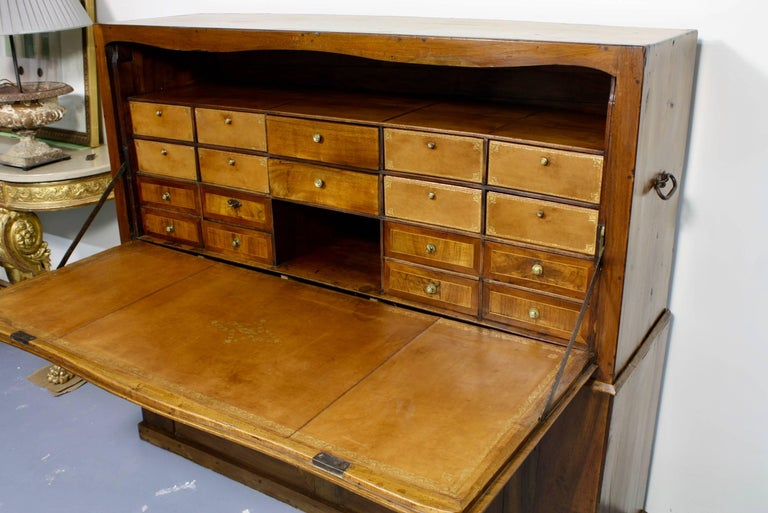 Forged Large French Directoire Period Traveling Secretary For Sale