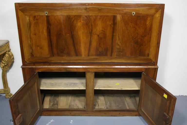 Iron Large French Directoire Period Traveling Secretary Desk For Sale