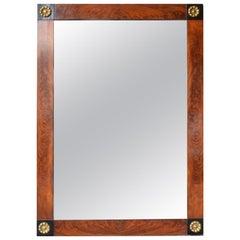 Large French Empire Mahogany Mirror