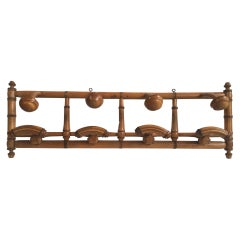 Large French Faux Bamboo Coat Rack, circa 1900
