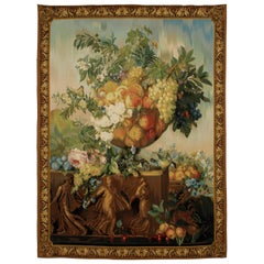 Large French Floral Still Life Tapestry