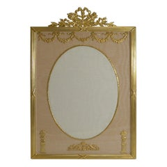 Large French Gilded Bronze Photograph Frame, circa 1890