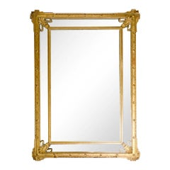 Large French Gilt Wood Mirror, circa 1870