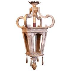 Large French Giltwood Lantern