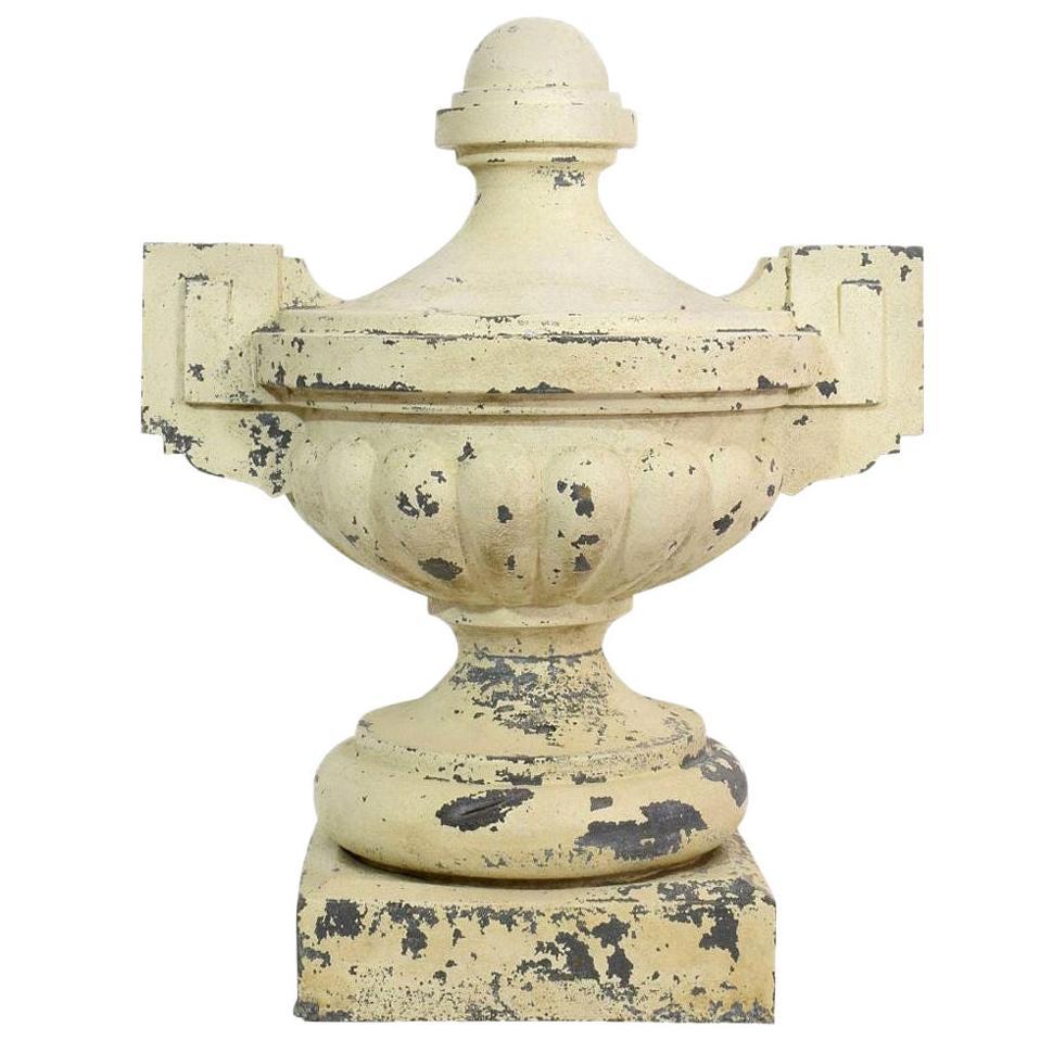 Large French Late 19th Century Zinc Vase