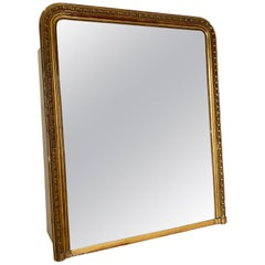 Large French Louis Overmantle Mirror, 1800s