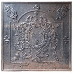 Large French Louis XV Arms of France Fireback, 18th Century