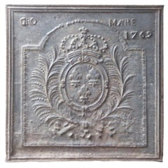 Large French Louis XV 'Arms of France' Fireback, 18th Century