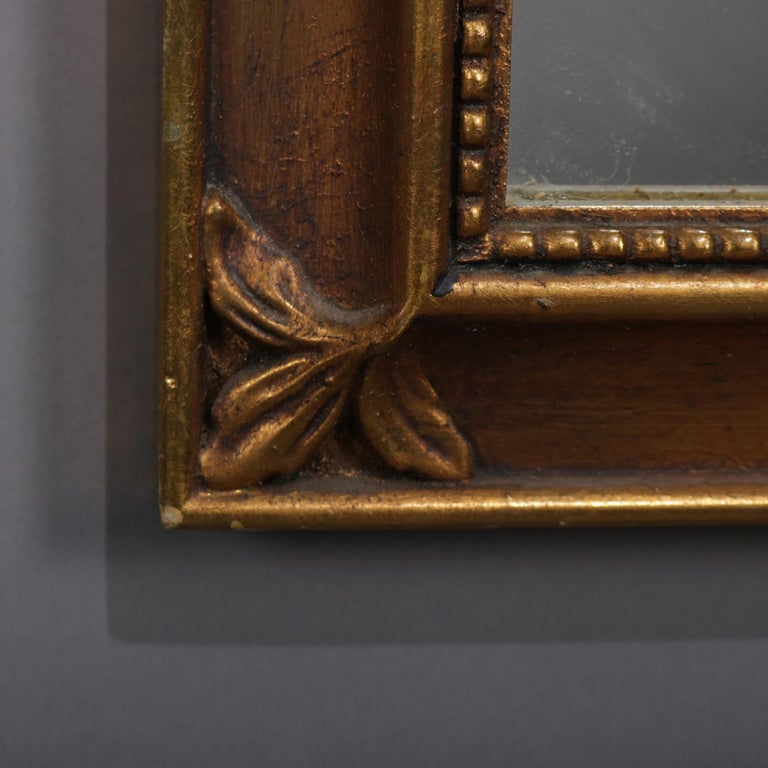 Large French Louis XV Giltwood Shaped and Foliate Wall Mirror, circa 1930 For Sale 1