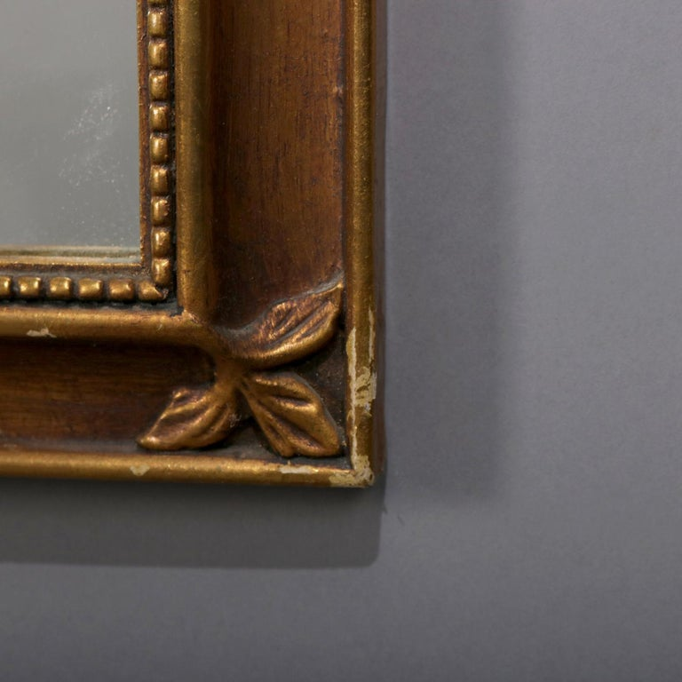 Large French Louis XV Giltwood Shaped and Foliate Wall Mirror, circa 1930 For Sale 2