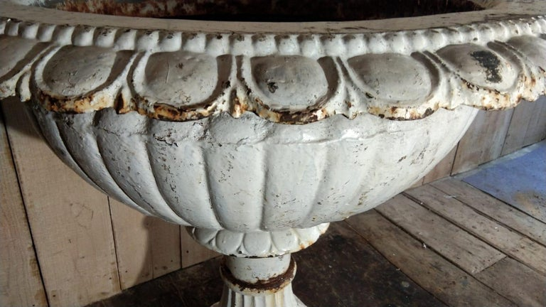 Large French Louis XVI Cast Iron Planter For Sale 2