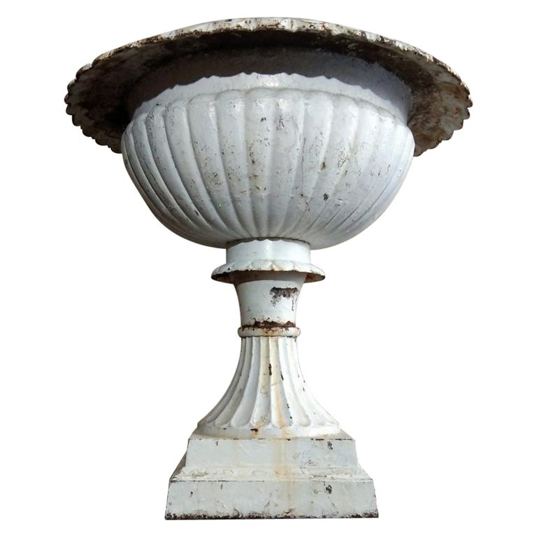 Large French Louis XVI Cast Iron Planter For Sale