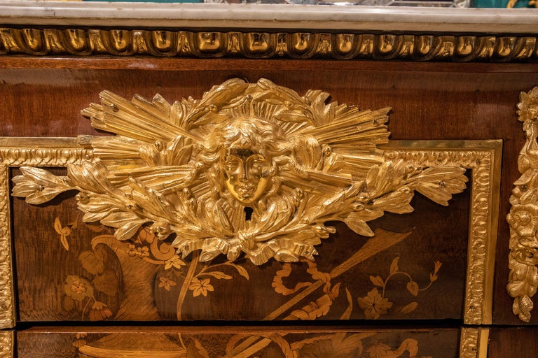 Large French Louis XVI Style Armorial Commode For Sale 5