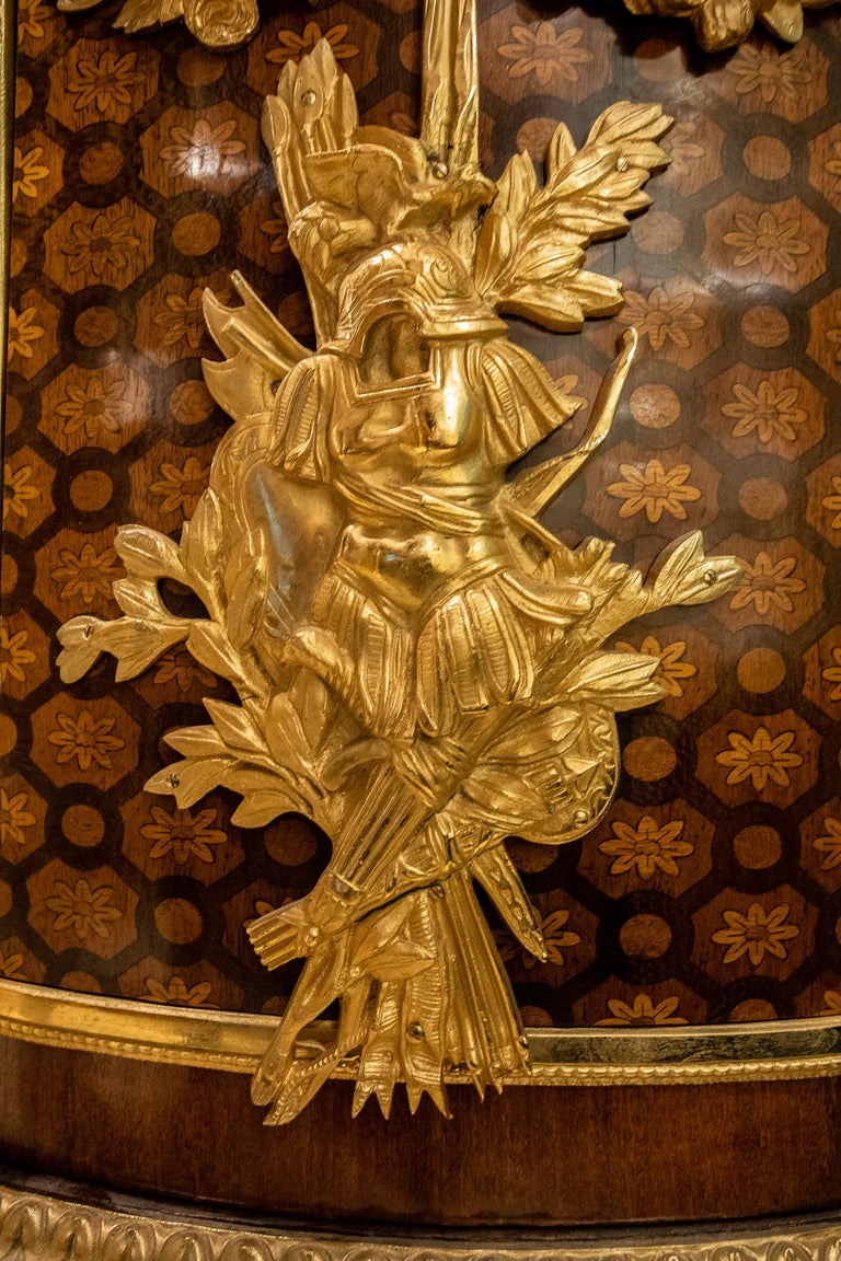 Large French Louis XVI Style Armorial Commode For Sale 1