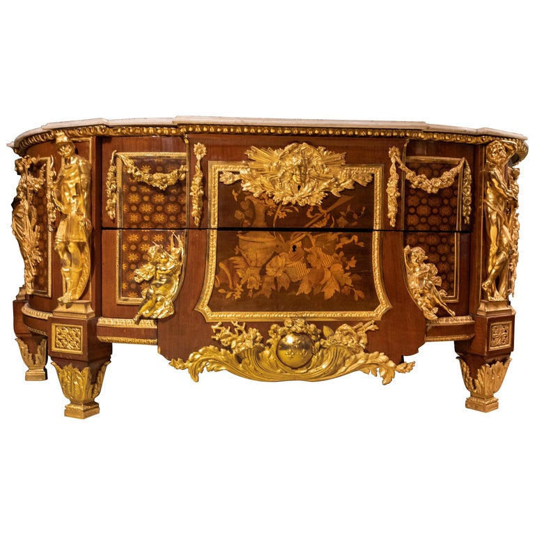 Large French Louis XVI Style Armorial Commode For Sale