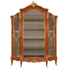 Large French Louis XVI Style Vitrine, by 'Linke'