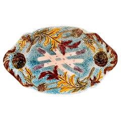 Large French Majolica Platter, c. 1880