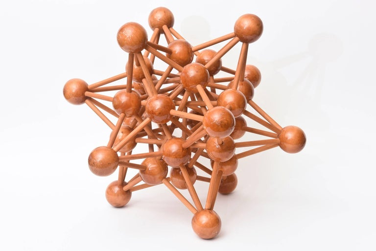 French Mid-Century Modern Atomic Wood Sculpture For Sale