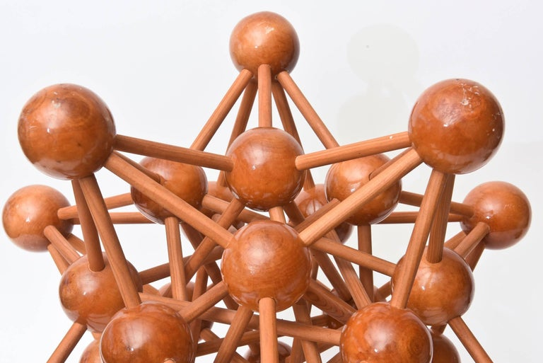Mid-Century Modern Atomic Wood Sculpture In Good Condition For Sale In North Miami, FL