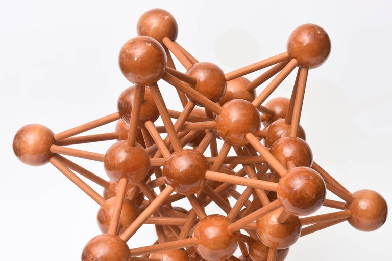 Mid-20th Century Mid-Century Modern Atomic Wood Sculpture For Sale