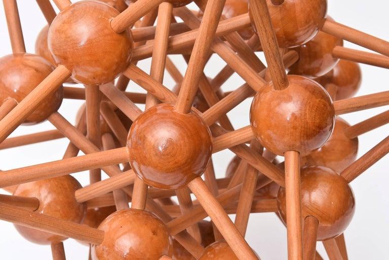Mid-Century Modern Atomic Wood Sculpture For Sale 1