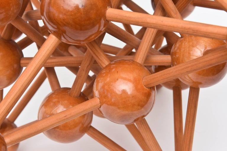 Mid-Century Modern Atomic Wood Sculpture For Sale 2