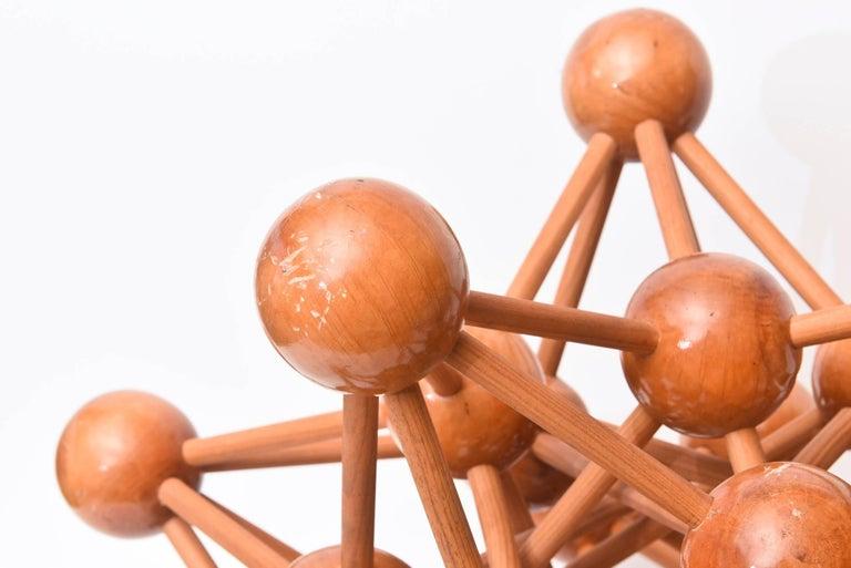 Mid-Century Modern Atomic Wood Sculpture For Sale 3