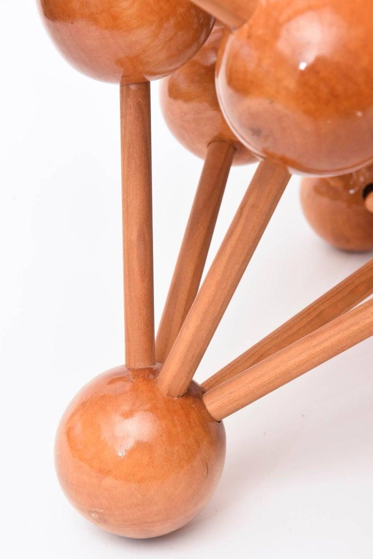 Mid-Century Modern Atomic Wood Sculpture For Sale 4