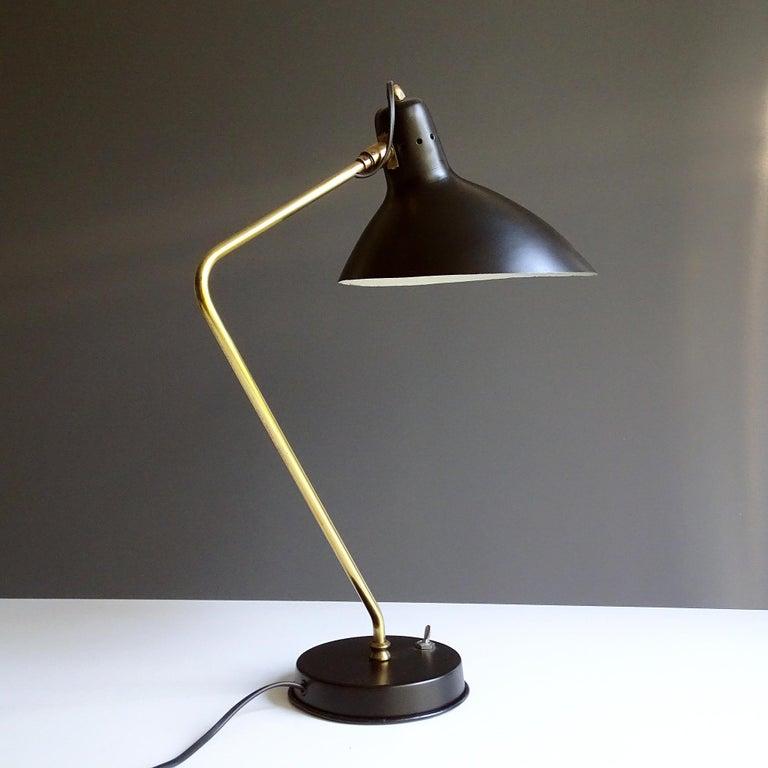 Brass 1960s Boris Lacroix Table Lamp For Sale