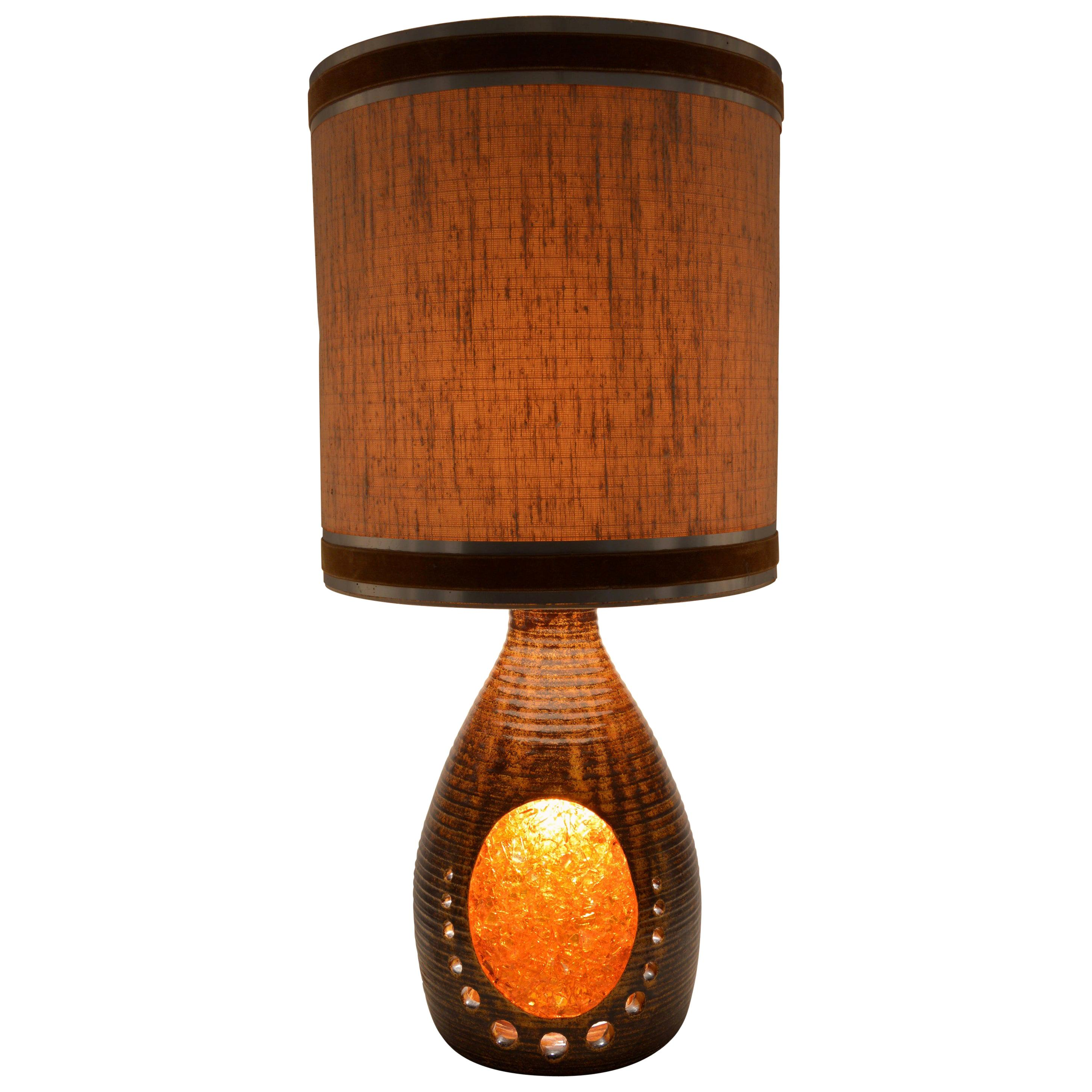Large French Midcentury Table Lamp, 1960s