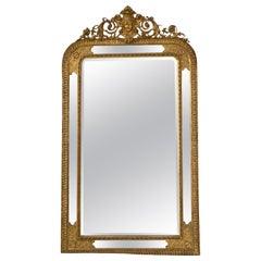Large French Napoleon III Gilded Mirror