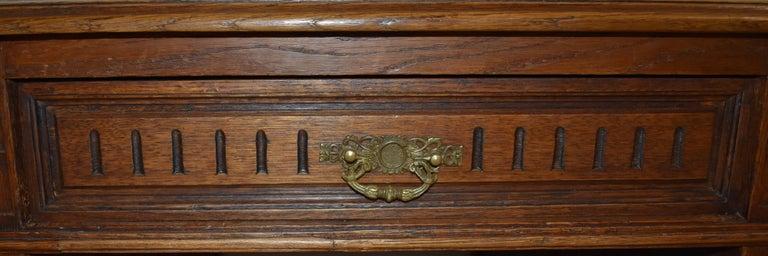 Large French Oak Partner's Desk, circa 1880 For Sale 4