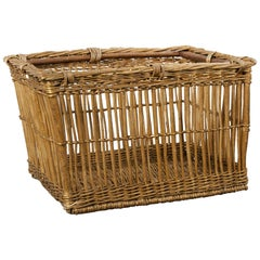 Large French Open Wicker Laundry Basket