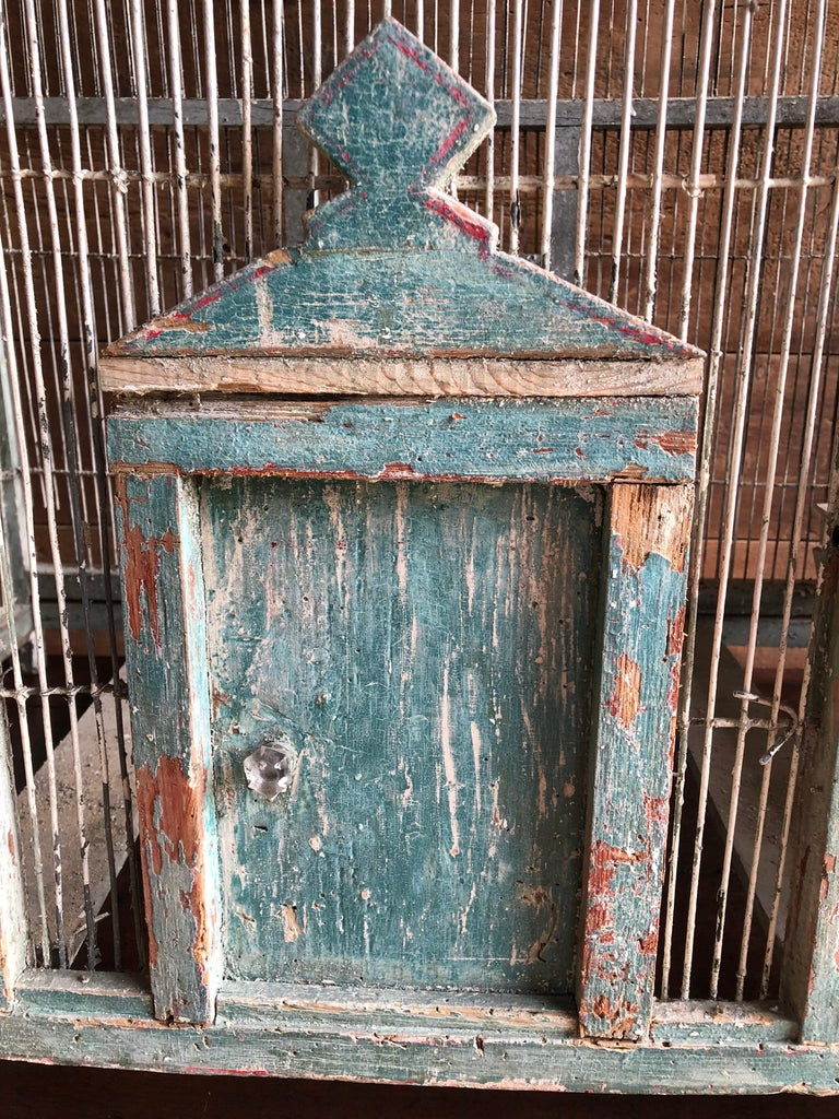 Large French Painted Birdcage, 19th Century For Sale 3