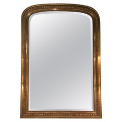 Large French Palace Size Giltwood, Louis Philippe Mirror with Beveled Glass