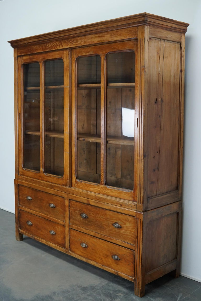 Large French Pine Country House Kitchen Cabinet, Late 19th ...