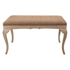 Large French Provincial Style Upholstered Bench, circa 1900s