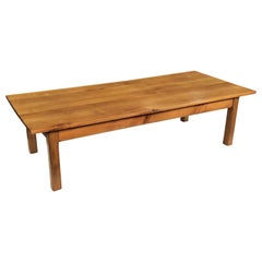 Large French Rectangular Low Table of Cherry