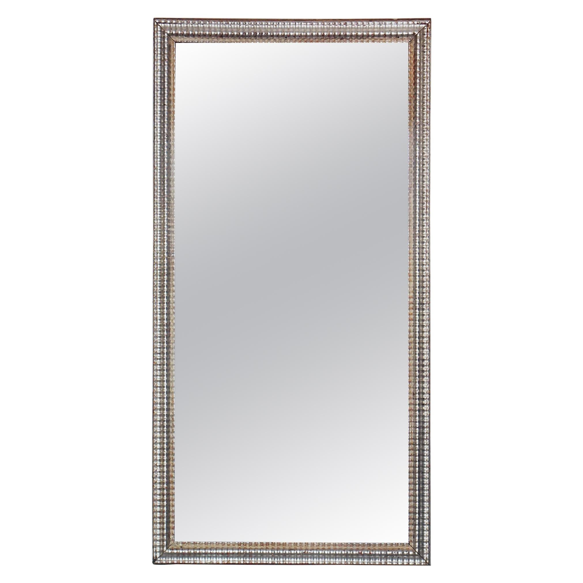 Large French Rectangular Silver Gilt Wall Mirror (52 1/2 x 26 3/4)