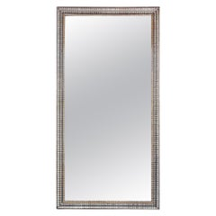 Large French Rectangular Silver Gilt Wall Mirror