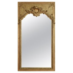Large French Regence Style Carved Giltwood and Gilt-Gesso Mirror, 3rdq 19th cen.