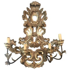 Large French Rococo Style Gold Giltwood Sconce '1 of 2'