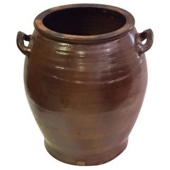 Large French Salt Glazed Urn or Oil Jar from the 19th C