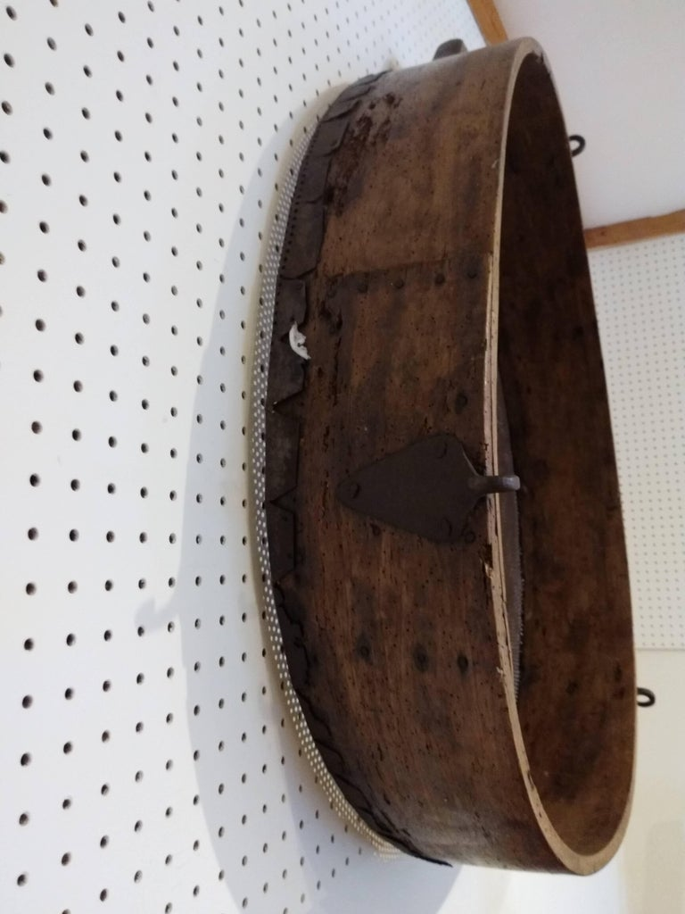 Large French Sifter In Distressed Condition For Sale In Sheffield, MA