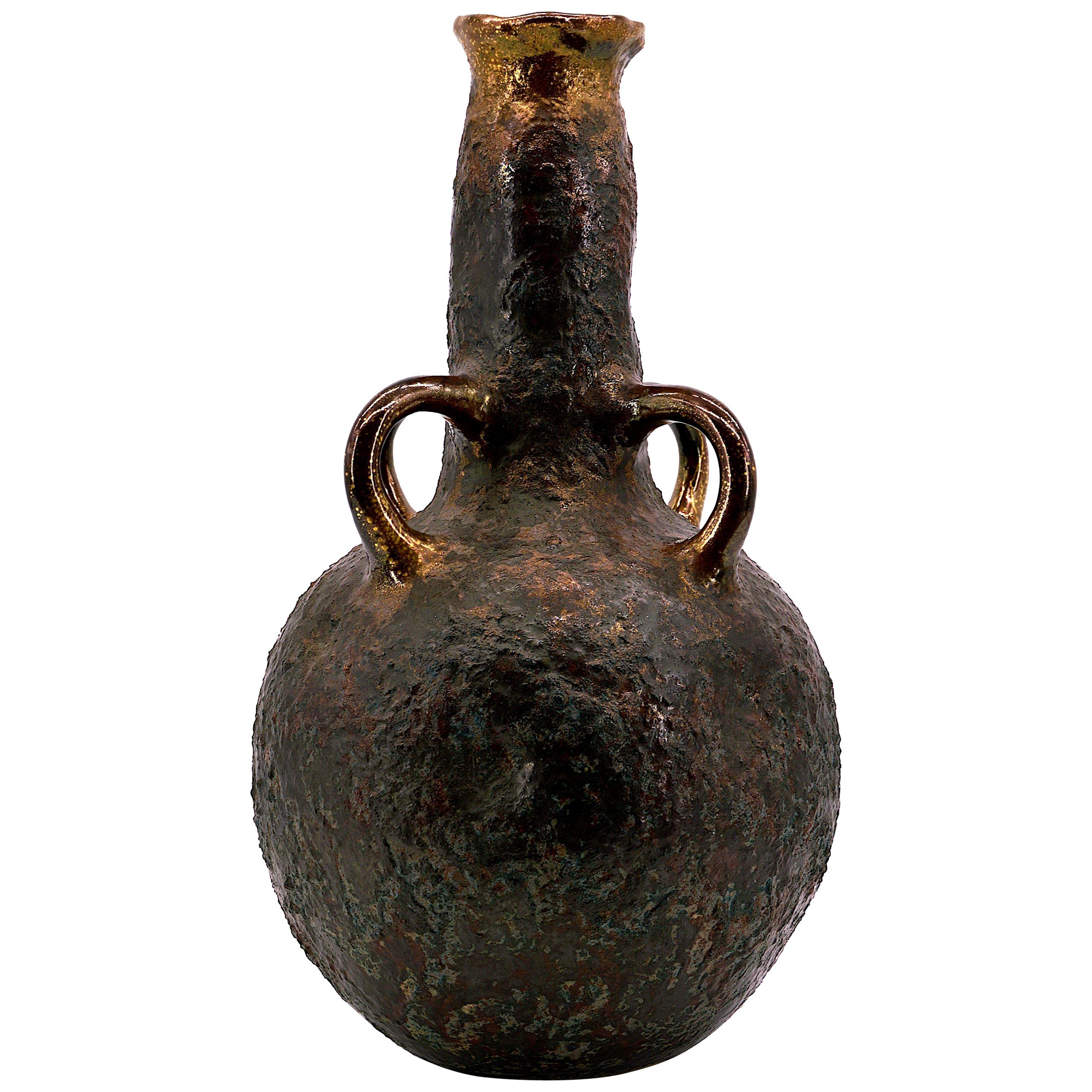 Large French Stoneware Vase, 20th Century