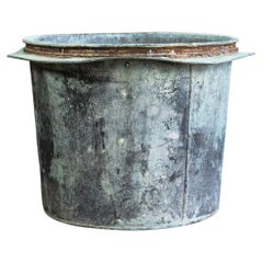 Large French Verdigris Copper Vat