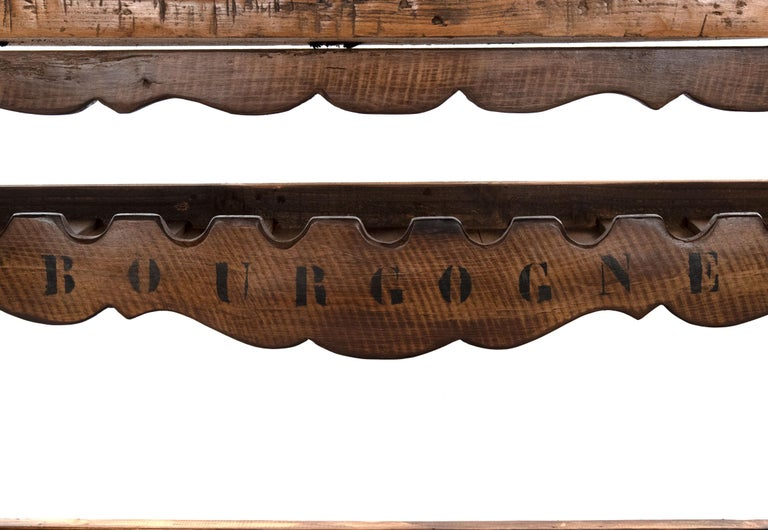 20th Century Large French Wine Rack Workbench For Sale